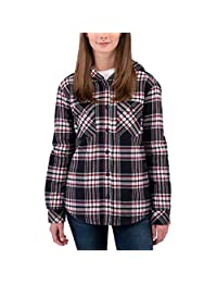 Boston Trader Ladies' Sherpa Lined Hooded Flannel (2018)