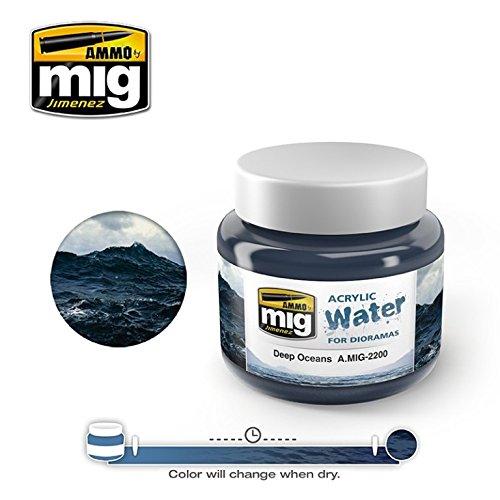 AmmoのMig Jimenez Deep Oceans – アクリルシミュレート水250 ml Jar # 2200   B0761ZRDXT
