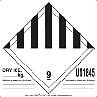 Labelmaster HML11-DICE Dry Ice Label, Hazmat, 4.75 x 4 (Pack of 500)