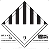 Labelmaster HML11-DICE Dry Ice Label, Hazmat, 4.75'' x 4'' (Pack of 500)