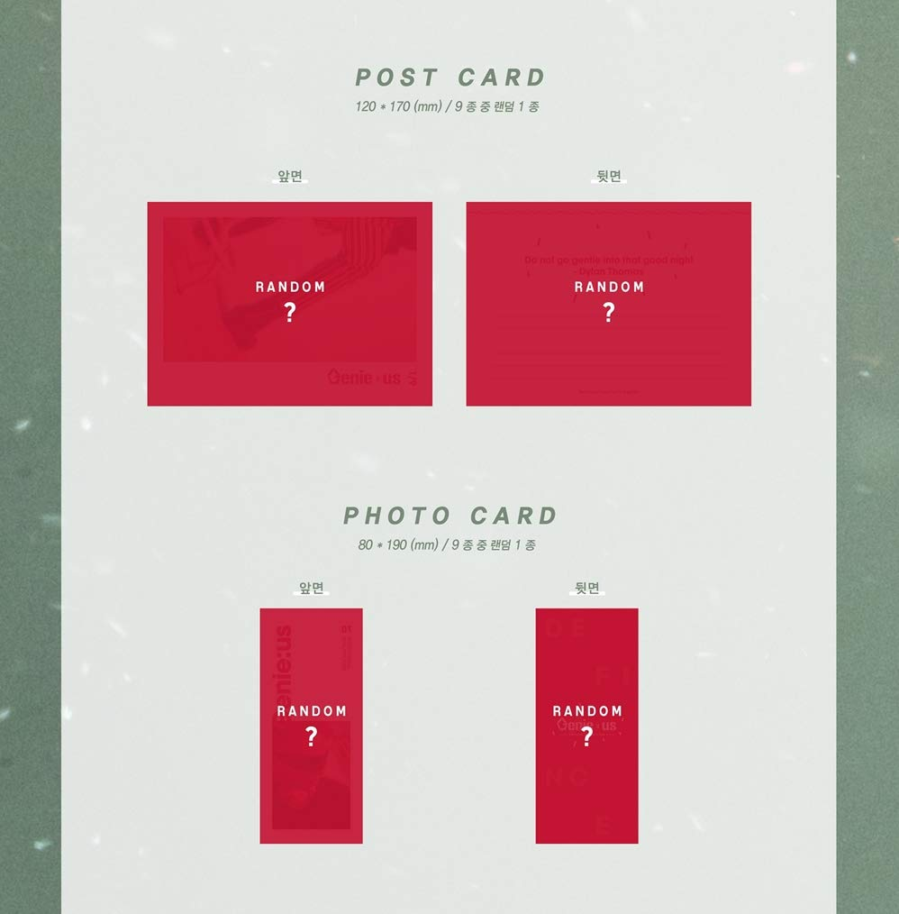 Pentagon - Genie:us (8th Mini Album) 1CD+Booklet+1PostCard+1Photocard+Folded Poster by Cube Entertainment (Image #3)