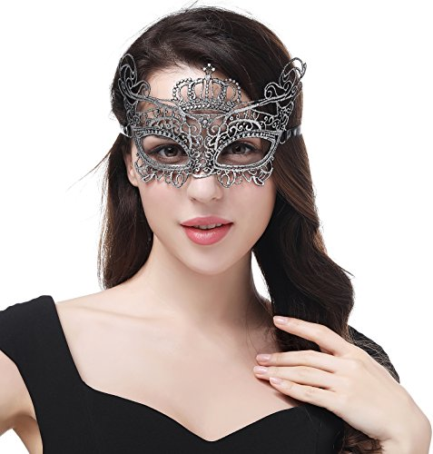 JeVenis Luxury Sexy Lace Eyemask for Halloween Masquerade