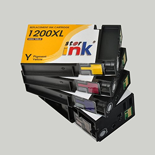 Starink 4 Pack PGI-1200XL Compatible Ink Cartridge, High Yield PGI 1200XL 1200 XL Replacement Pigment Ink for Maxify MB2320, MB2020, MB2120, MB2720 Inkjet Printer(1 Black, 1 Cyan, 1 Magenta, 1 Yellow) Photo #6
