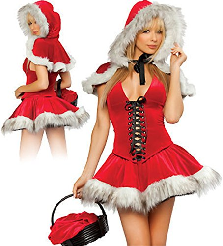 Christmas Performance Costumes Cosplay Clothes with Little Red Riding Hood (Little Red Riding Hood Cosplay)