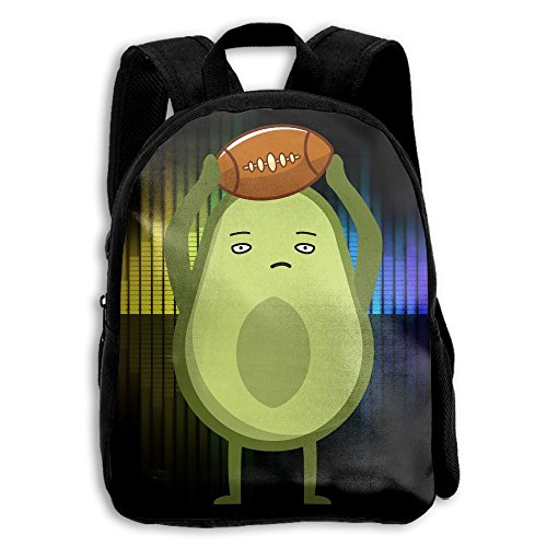 Avocado Love Rugby Kids Backpack School Bag Gift For Pre School Children/Toddler (Embroidered Print Rugby)