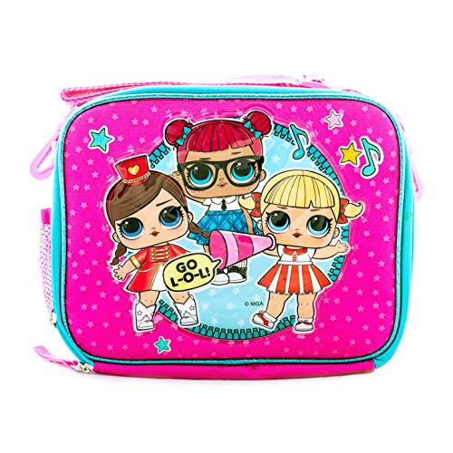L.O.L Surprise! Backpack and Lunch Box Book Bag Travel Bag Go LOL (Lunch Box)