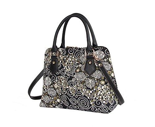 a in arazzo spalla Borsa tessuto Klimt Gustav moda stile convertibile Il Signare alla bacio RA66qU