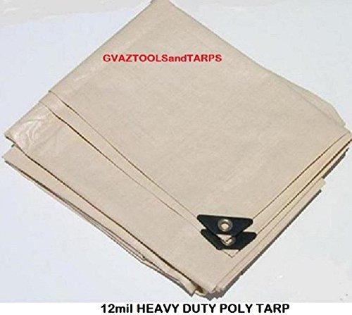 Tan Poly Tarps - 4