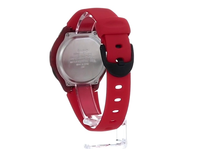 Casio Women's Classic Quartz Watch with Resin Strap, red, 15 (Model: LW-200-4AVCF)