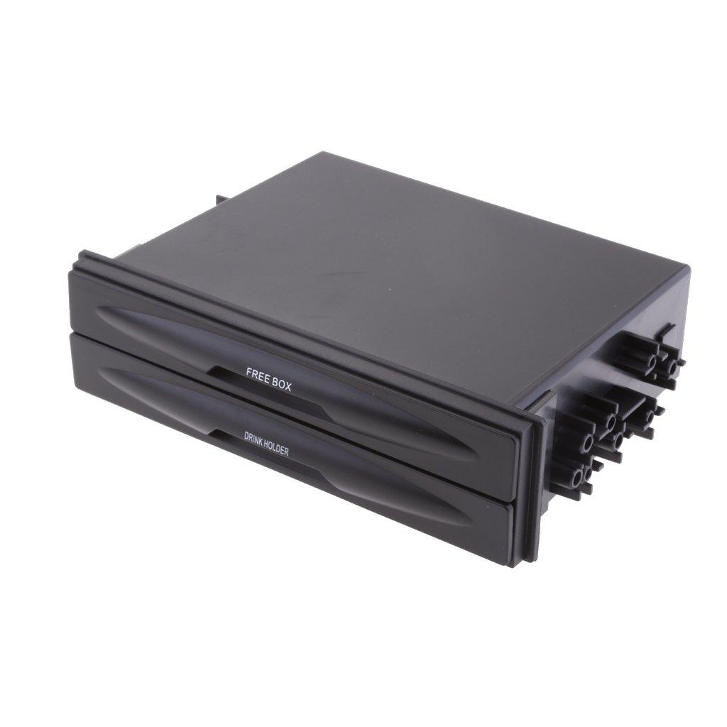 MagiDeal Universal Auto Getr/änkehalter Aufbewahrungsbox Kunstoff Doppel-Entwurf 175mm x 125mm x 45mm