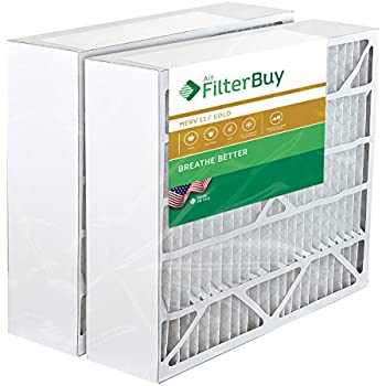 2 FilterBuy 20x25x6 Aprilaire Space Gard 201 Alternative Pleated AC Furnace Air Filters. AFB Gold MERV 11.