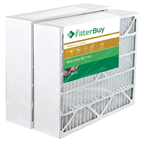 Space Gard Furnace Filters - 2 FilterBuy 20x25x6 Aprilaire Space Gard 201 Alternative Pleated AC Furnace Air Filters. AFB Gold MERV 11.