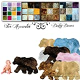 Nursery Rug Baby Bear Mama Bear Learning Play Accent Area Throw Carpet Small Large Pad Mat Floor Decor Accessory (36''x60'', Brown)