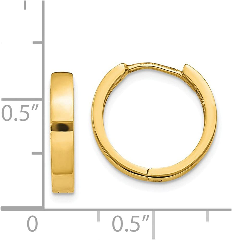 14K Hinged Hoop Earrings