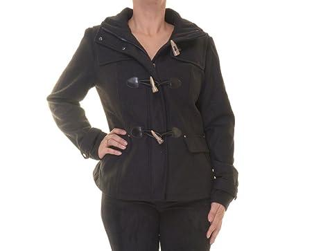 54ddddb145a Amazon.com  Celebrity Pink Womens Hooded Wool Duffle Coat  Clothing