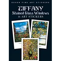 Tiffany Stained Glass Windows: 16 Art Stickers (Dover