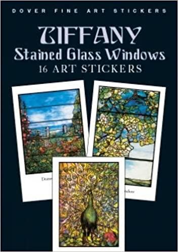 Tiffany Stained Glass Windows Art Stickers Dover Art Stickers - Stained glass window stickers amazon