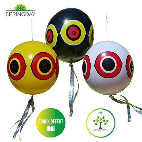 globos espantapajaros con cinta Reflectante repelente aves ...