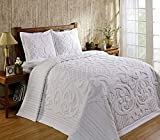 Better Trends / Pan Overseas Ashton 430 GSM Heavy Weight 100-Percent Cotton Chenille Tufted Bedspread, King, White