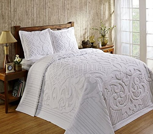 Better Trends / Pan Overseas Ashton 430 GSM Heavy Weight 100-Percent Cotton Chenille Tufted Bedspread, King, -
