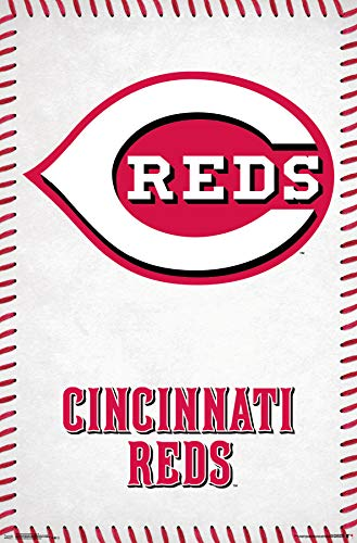 Trends International Cincinnati Reds-Logo Clip Bundle Wall Poster, 22.375