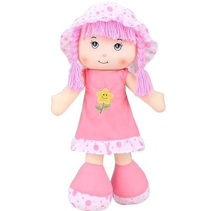 Amazon Com Peatao Kids Girls Plush Play Cloth Dolls Cartoon Soft