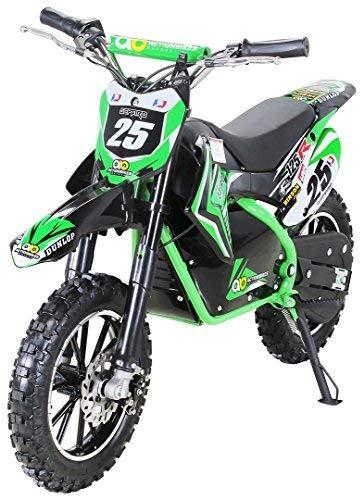 Gepard - Motocicleta mini de Enduro y motocross, para niños, eléctrica, horquilla reforzada, 500 W, 36 V: Amazon.es: Coche y moto