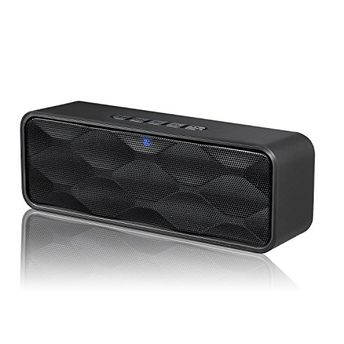Digital Audio Satellite Mp3 Player (Wireless Bluetooth Speaker, ZOEE S1 Outdoor Portable Stereo Speaker with HD Audio and Enhanced Bass, Built-In Dual Driver Speakerphone, Bluetooth 4.0, Handsfree Calling, FM Radio and TF Card Slot)