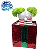 Christmas Elf in Box Pinata, 24'' Decoration, Party Game and Photo Prop