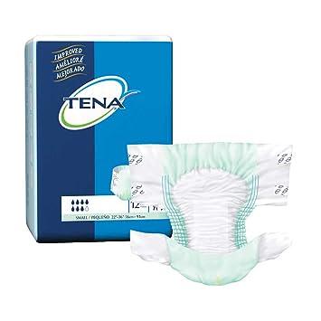 TENA Brief, Small, Heavy Absorbency, Tab Closure, Disposable, 66100 - 12