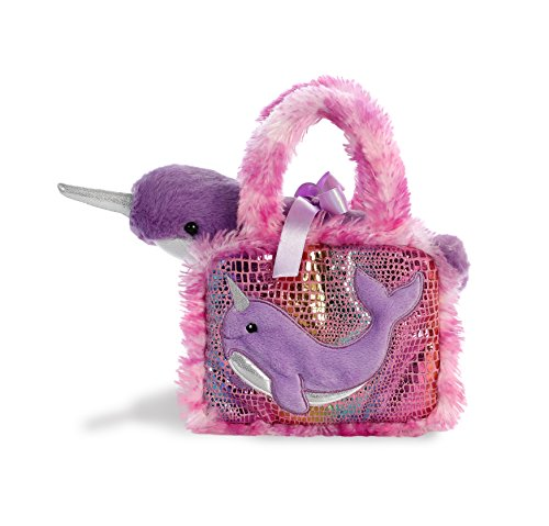(Aurora World Pet Carrier Plush Toy Animal, Fancy Pals Narwhal)