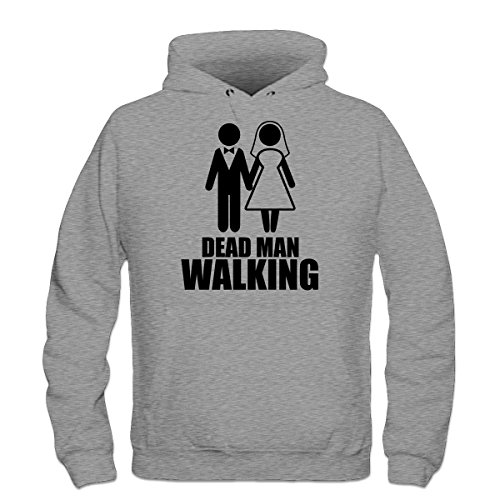 Shirtcity Dead Man Walking Hoodie M Grey (Party City Walking Dead)