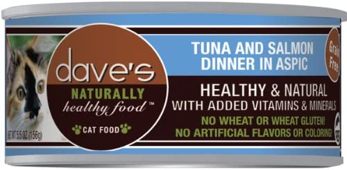 Dave s Naturally Healthy Tuna and Salmon in Aspic for Cats Pack 24x3oz