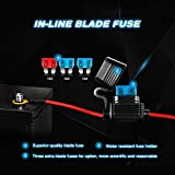 Nilight LED Light Bar Wiring Harness Kit 12V On Off Switch Power Relay Blade Fuse for Off Road Lights LED Work Light,2 years Warranty