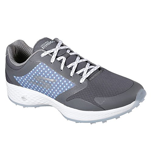 Skechers Performance Women's Go Eagle Lead Golf-Shoes,Charcoal/Blue,8 M US