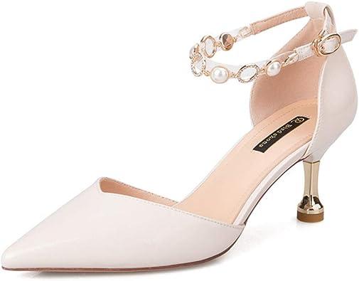 White Mid Heels