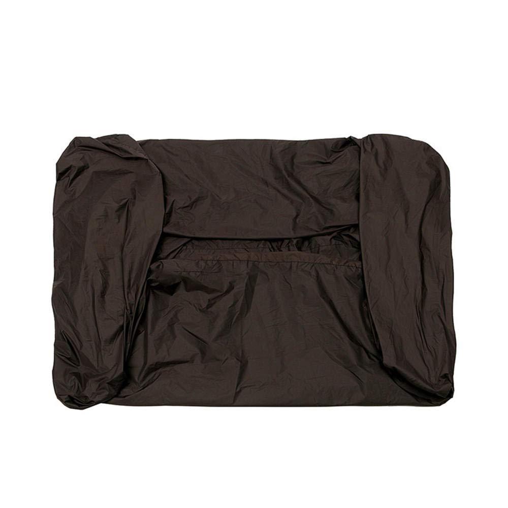 Anddoa 81x44x47.5 Inch Black Polyester Fabric Waterproof Zero Turn Lawnmower Cover