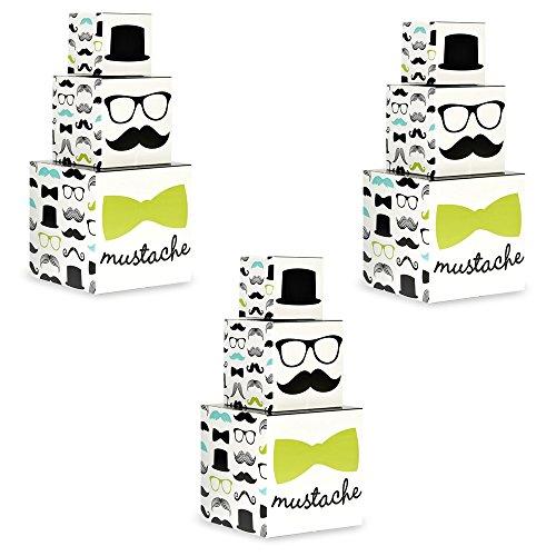 Mustache Man Party Centerpiece Kit - 3 (Mustache Centerpieces)