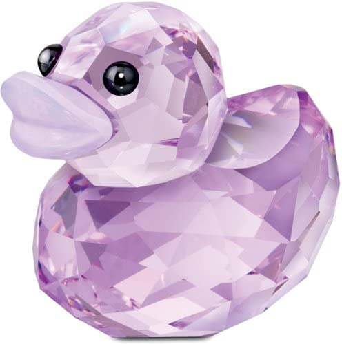 SWAROVSKI 1143455 Happy Duck Figurine, Lovely Lucy