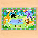 Olive Kids Wild Animals Personalized Placemat