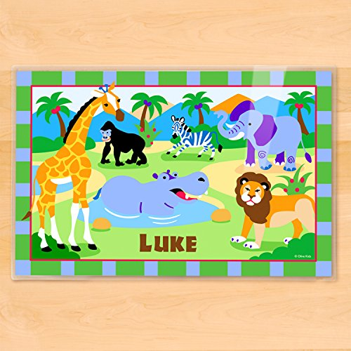 Olive Kids Wild Animals Personalized Placemat by Olive Kids