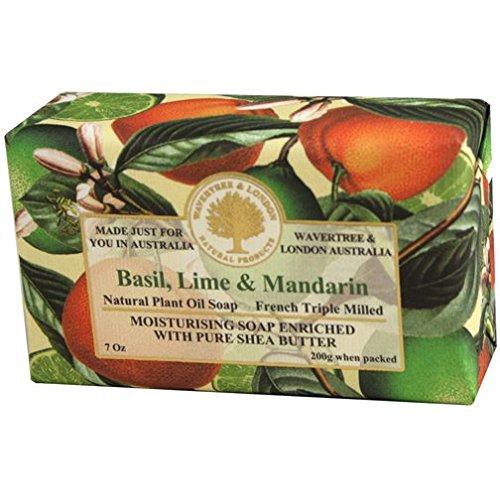 Australian Soapworks Wavertree & London 200g Soap Set of 4 – Basil Lime & Mandarin For Sale