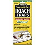 Harris RTRP Roach Glue Traps w/Lure (2-Pack), Natural & Pesticide Free, Yellow
