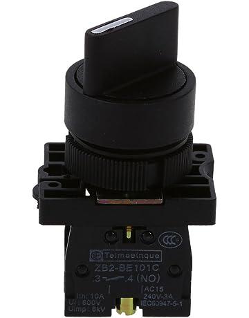 SODIAL(R) Interruptor selector de eleccion giratorio de 2 posiciones encendido / apagado 1