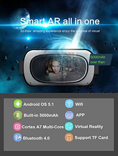 Livehomes Full HD VR Gaming 3D Glasses Game Movie All In One Portable VR Virtual Reality For Android OS 5.1 by Livehomes (Image #1)