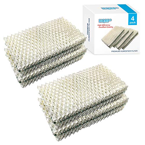 HQRP Humidifier Wick Filter Compatible with Sears Kenmore 14909/14912 / 32-14912, Emerson Essick Air AIRCARE HDC-2R & HDC-411, BestAir E2R Replacement, 4-Pack