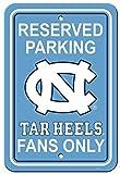 NCAA North Carolina Tar Heels 12-by-18 inch Plastic Parking Sign
