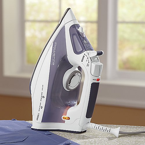 Rowenta DW4060 AutoSteam Steam Iron Airglide Stainless Steel Soleplate with Auto-Off, 1700-Watt, Blue - Rowenta Soleplate Cleaner