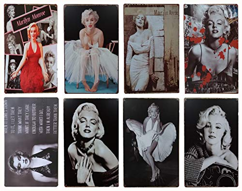 Marilyn Monroe Retro Tin Metal Sign 8pcs 30cm*20cm (7.87*11.81inch) -