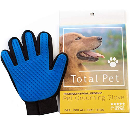 Pet Grooming Glove: Cat & Dog Deshedding Brush for Short & Long Hair